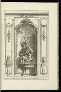 Print, Design for Wall Niche with a Fountain, 1745