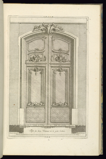 Print, Elevation and Plan of a Portal, 1745