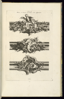 Print, Milieux de Traverses de Bordures Variés Differemment, 1745