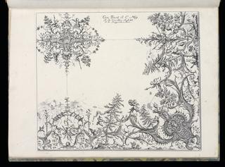 Bound Print, Quarter of a Ceiling, Livre de Plafonds (Book of Ceilings)