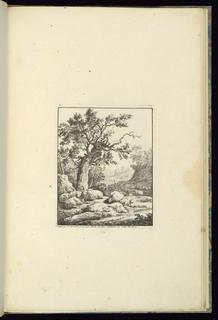 Print, Design with Shepherd Sleeping Next to his Sheep, 1745