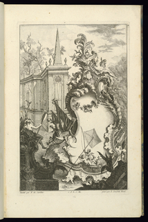 Print, Design for Fountain with Two Putti with a Fishing Net, 1745