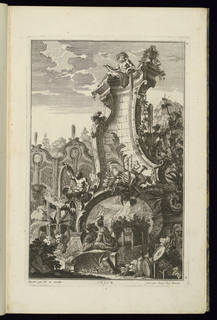 Print, Design for Fountain with Trophy of Musical Instruments, 1745