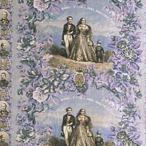 Bedcover, A.S.M. Da Isabel 2a La Espana Industrial 1860