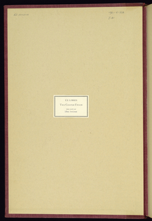 Book, L'architecture française, ou recueil des plans, élévations, coupes et profils des eglises, palais, hôtels et maisons particulières de Paris, et des chasteaux et maisons de campagne ou de plaisance des environs, et de plusieurs autres endroits de France (French Architecture, or Album of Plans, Elevations, Sections and Profiles of the Churches and Townhouses of Paris, and of the Châteaux and Country Houses of the Surroundings, and from Several Other Places in France)