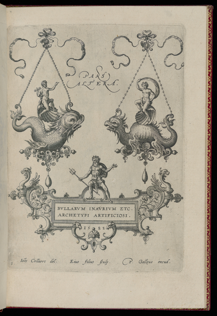 Print, Title plate, from Bullarum Inaurium etc. Archetypi Artificiosi Pars Altera (Pendants, Earrings, etc. Designs of the Most Skillful Nature, Part Two)