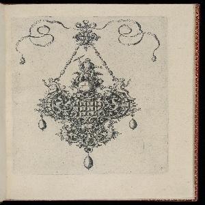 Print, Plate 5, from Monilium Bullarum Inauriumque Artificiocissimae Icones, Ioannis Collaert Opus Postremum (Designs for Necklaces, Pendants and Earrings of the Highest Skill, the Final Work by Joannis Collaert)