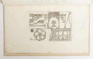 Print, Plate 5, from Diverses pièces de serruriers (Various Designs for Locksmiths)