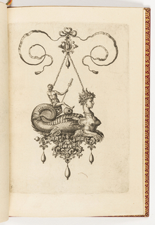 Print, Plate 5, from Bullarum Inaurium etc. Archetypi Artificiosi Pars Altera (Pendants, Earrings, etc. Designs of the Most Skillful Nature, Part Two)