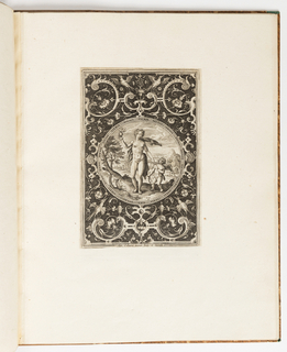 Print, Venus, plate from a suite of 6 ornamental designs with the Judgement of Paris