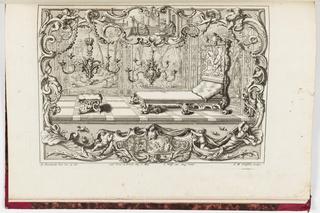 Print, Neüe inventiones von unterschiedlich nützlicher Silber-arbeit... ;  a room with a bed