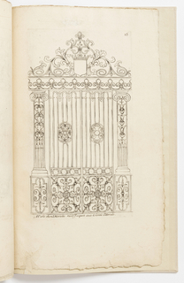 Print, Plate 16, from Diverses pièces de serruriers (Various Designs for Locksmiths)