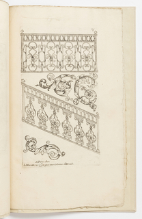 Print, Plate 15, from Diverses pièces de serruriers (Various Designs for Locksmiths)