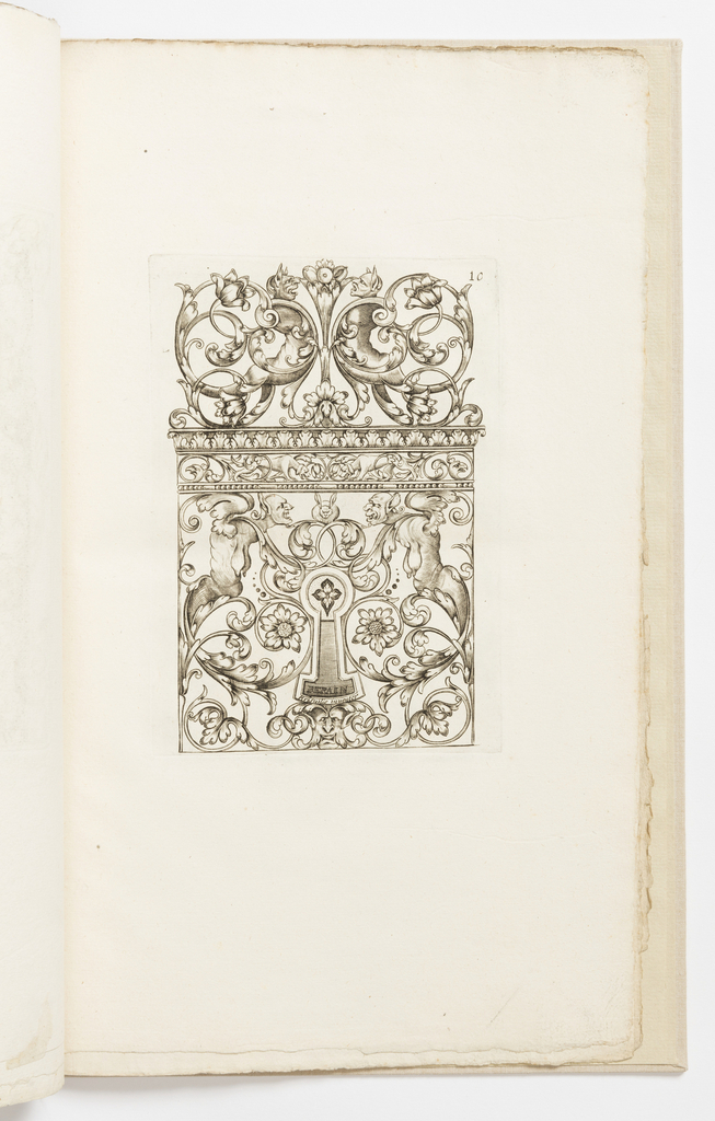 Print, Plate 10, from Diverses pièces de serruriers (Various Designs for Locksmiths)