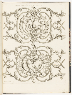 Grillwork heavily ornamented with scrolls and foliage.