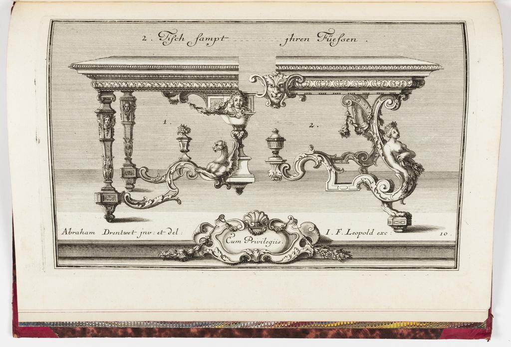 Print, Neüe inventiones von unterschiedlich nützlicher Silber-arbeit... ; pl. 10, ca. 1725