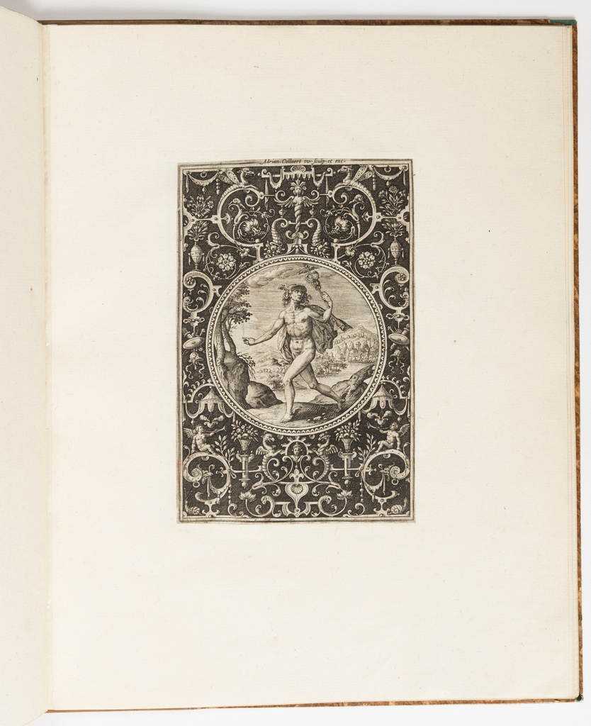 Print, Mercury, plate from a suite of 6 ornamental designs with the Judgement of Paris