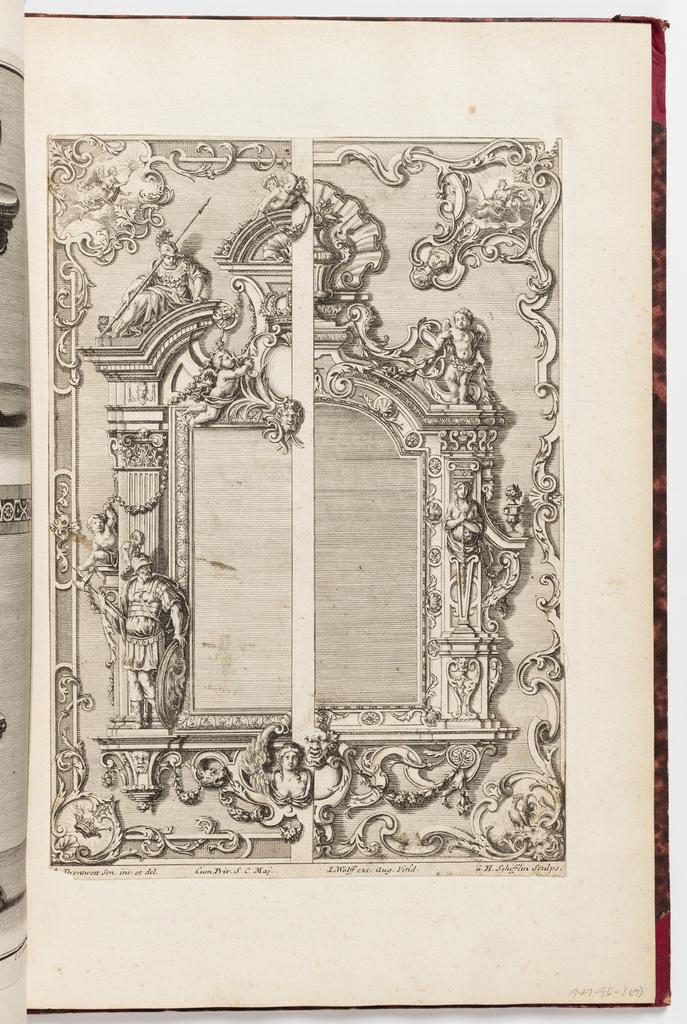 Print, Neüe inventiones von unterschiedlich nützlicher Silber-arbeit... ; split scheme of frames