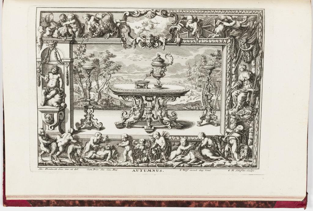 Print, Neüe inventiones von unterschiedlich nützlicher Silber-arbeit... ; Autumnas