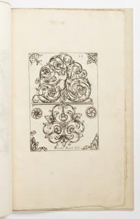 Print, Plate 12, from Diverses pièces de serruriers (Various Designs for Locksmiths)