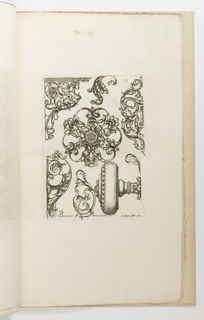 Print, Plate 11, from Diverses pièces de serruriers (Various Designs for Locksmiths)