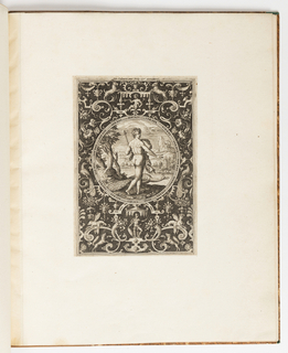 Print, Juno, plate from a suite of 6 ornamental designs with the Judgement of Paris