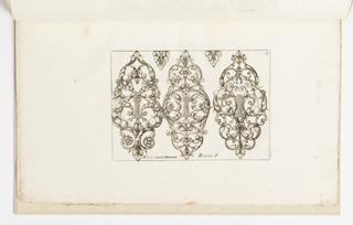 Print, Plate 4, from Diverses pièces de serruriers (Various Designs for Locksmiths)