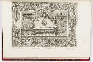 Print, Neüe inventiones von unterschiedlich nützlicher Silber-arbeit... ;  a room with seating