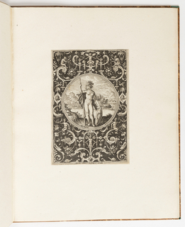 Print, Minerva, plate from a suite of 6 ornamental designs with the Judgement of Paris
