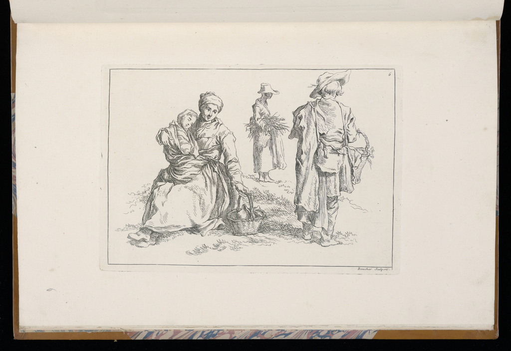 1 Suite, title page and 2 - 12. Sketches of peasants, mostly youths.