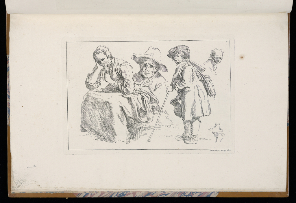 1 Suite, title page and 2-12. Sketches of peasants, mostly youths.