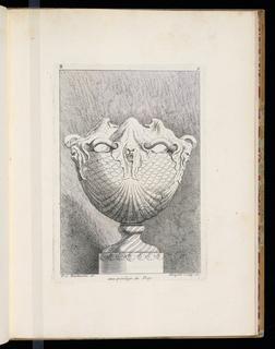 Print, Second livre de vases, ca. 1735