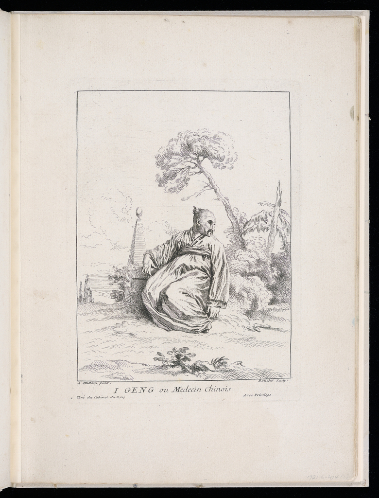 Drawings of chinoiserie title page and 1-12