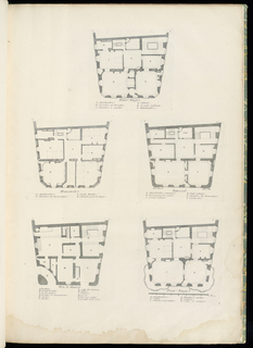 Print, Première Etage (First Floor), Maison du Sieur Léon Brethous (First Floor Plan of Léon Brethous House) plate 7, from Oeuvres de Juste-Aurèle Meissonnier (Works of Juste-Aurèle Meissonnier)