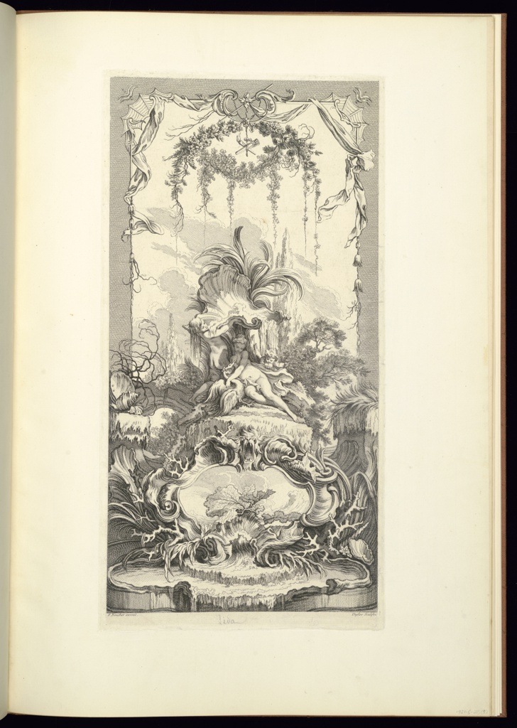 Print, Léda (Leda and the Swan), from Nouveaux morceaux pour des paravants (New Designs for Screens)