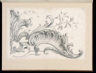 Bound Print, Design for Rocaille Decoration, plate 4 in Seconde Partie de divers Ornements, ca. 1745