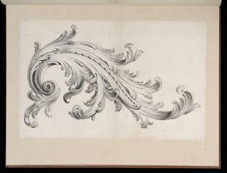 Print, Acanthus Leaf Design, Divers Ornements, l'Epoque Louis XV (Various Ornaments, The Era of Louis XV)