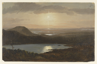 Drawing, Eagle Lake Viewed from Cadillac Mountain, Mount Desert Island, Maine