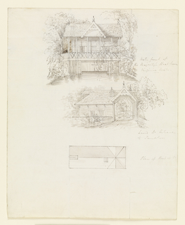 Drawing, Boat House, Virginia Water; Verso: Scullery, Virginia Water