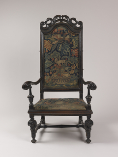wooden chair with needlepoint upholstery Armchair