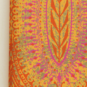 Twelve designs which include floral, geometrics, traditional and Oriental themes, to dramatize the effect of color in small doses.