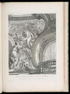Print, Projet de l'angle d'un Sallon portatif pour le Roy (Design for a Corner of a Salon), plate 98, in Oeuvres de Juste-Aurèle Meissonnier (Works by Juste-Aurèle Meissonnier)