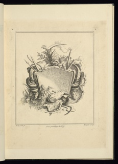 Print, Design for Cartouche Evoking Death, 1740