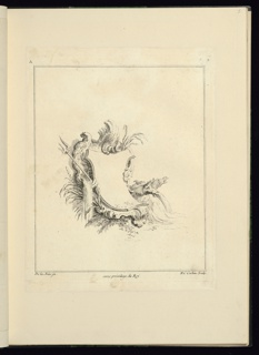 Print, Design for Cartouche Evoking the Sea