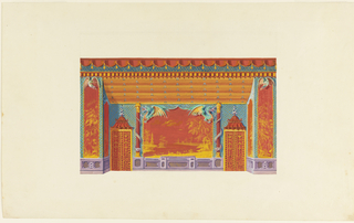 Drawing, Design for the South Wall of the Music Room, Royal Pavilion, Brighton