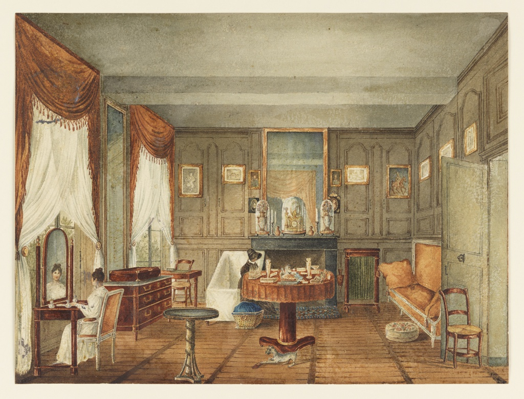Drawing, View of a Morning Room Interior