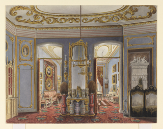 Drawing, Apartments of Queen Elizabeth of Prussia, Charlottenburg Palace, Berlin