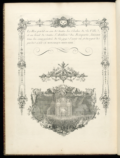 Print, Plate 19 (recto) and plate 20 (verso), Description of the Celebrations Given by the City of Strasbourg, from the series Fêtes de Strasbourg