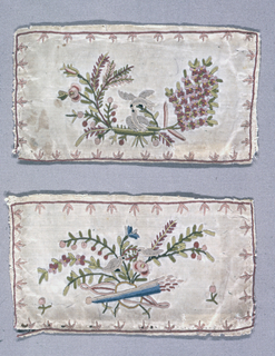 Pair of embroidered pockets from a man's waistcoat.