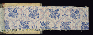 Sample book of printed florals, many in an eighteenth-century style. Pages themselves are large fabric swatches.